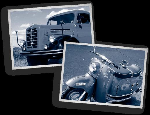 Borgward mit LKW-Begrenzungsstangen und eine 1955er Maicoletta mit Drehgriffen von Hagemann. (Foto: Wikipedia)